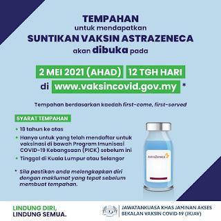 Vaksin AstraZeneca | Kami sudah lengkap 2 dos, lindung diri, lindung semua