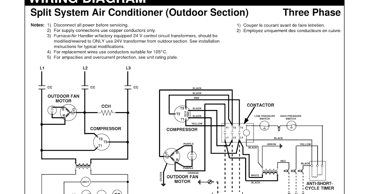 Electrical Wiring Diagrams for Air Conditioning Systems – Part One ~  Electrical Knowhow | Hvac Wiring Schematics Diagrams And Made Easy |  | Electrical Knowhow