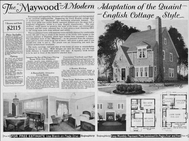 1929 Wardway catalog image of Maywood model From Daily Bungalow