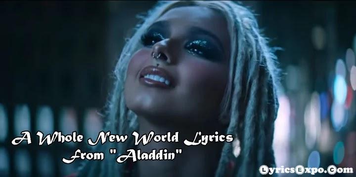 A Whole New World Lyrics From Aladdin