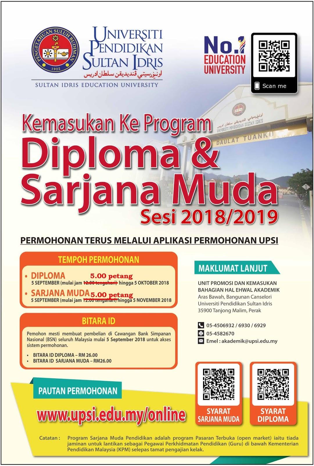 The Edvisor Malaysia Permohonan Upsi Kemasukan Sesi Akademik 2 2018 2019 Lepasan Spm Setaraf Stpm Setaraf