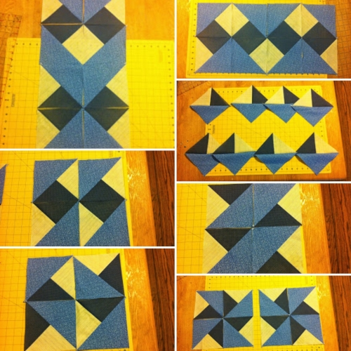 Four Patch HST (Boston Block) - Quilt Tutorial
