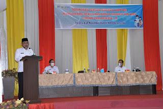 Sekda Provinsi Jambi Secara Resmi Membuka Sosialisasi Pergub Pedoman Adaptasi Baru Menuju Masyarakat Produktif Dan Aman Covid-19.