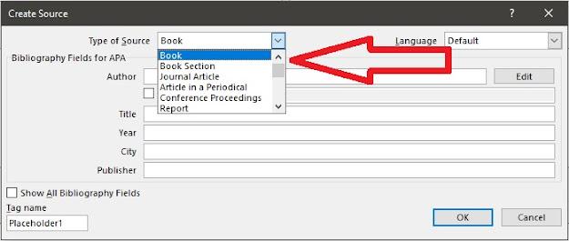 cara membuat daftar pustaka di word
