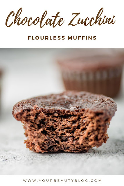 Healthy chocolate zucchini muffins recipe. These mini muffins are flourless and gluten free. Make healthy chocolate muffins for kids or for This easy and simple recipe has banana and sunflower seed butter and no flour. Use choc chips or use carb chips for no sugar and clean eating.  This is the best recipes for healthy muffins. #chocolate #zucchini #healthy
