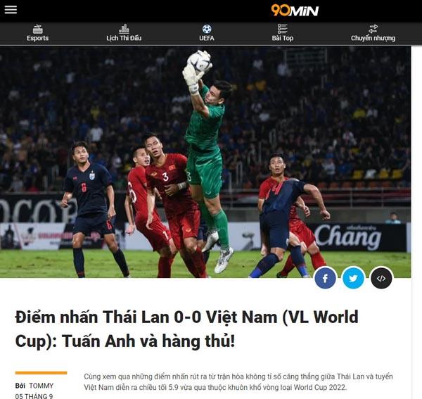 ĐT Việt Nam kịch chiến Thái Lan: Báo châu Á khen Tuấn Anh và hàng thủ 3