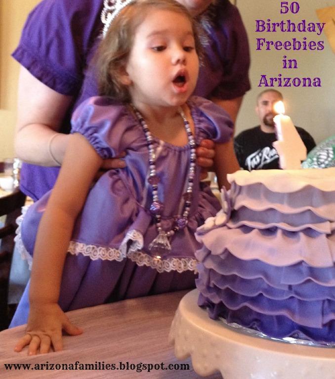 Arizona Families Birthday Freebies