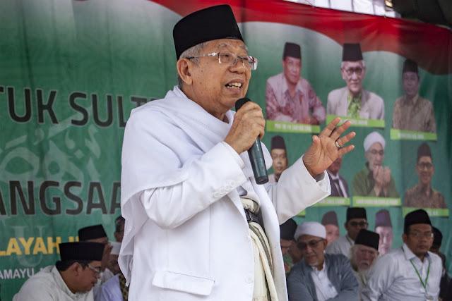 Ma'ruf Amin ke Pengkritik Jokowi: Ente Sudah Berbuat Apa untuk Islam?