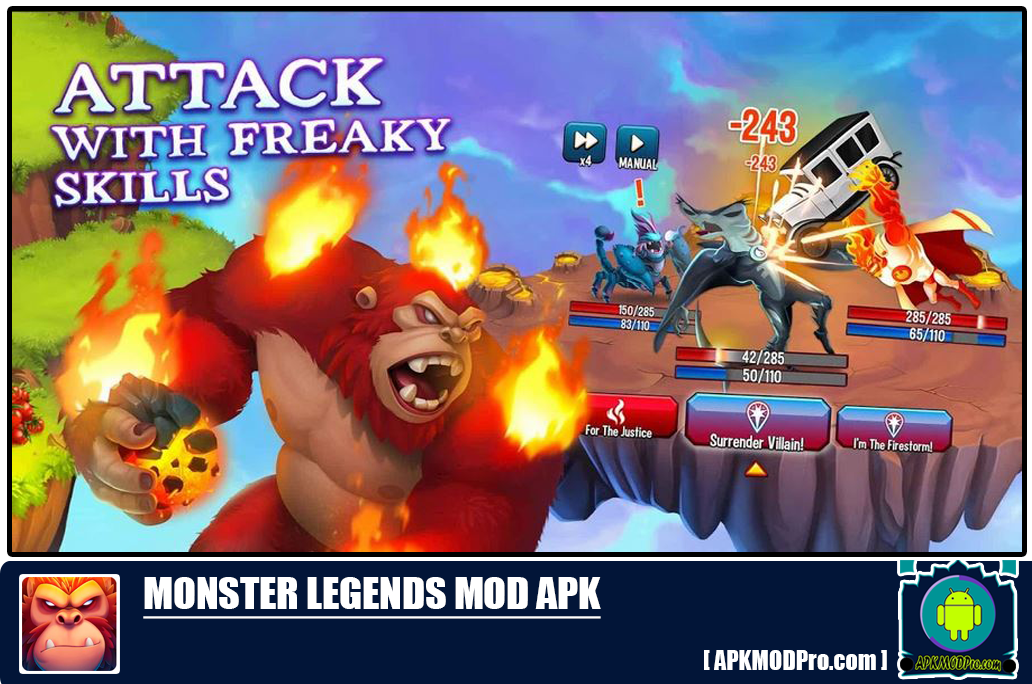 Monster Legends MOD APK 9.2.17 (Unlimited Money, No Skill Costs)