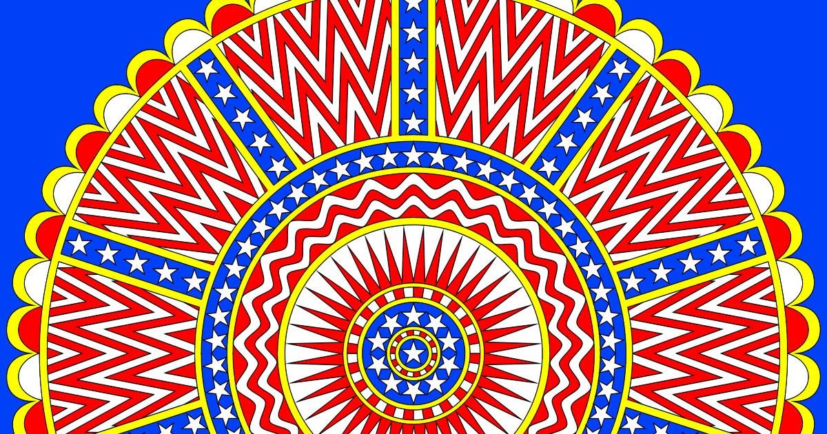 Don T Eat The Paste Stars And Stripes Mandala To Print