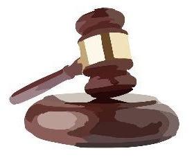 हैमर ने कोयला घोटाले में न्यायालयों के फैसले का प्रतिनिधित्व करते हुए दिखाया