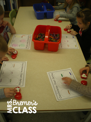 Lots of fun way to practice math skills during Valentine's Day! Students use conversation hearts to sort, tally, graph, add, compare numbers, count, and more! Packed with fun, hands on activities to build math skills in Kindergarten and First Grade. Common Core aligned. #kindergarten #kindergartenmath #1stgrade #valentinesday #centers #mathcenters #math #conversationhearts