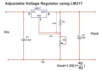 Simple application circuit of LM317