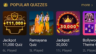 Popular quizzes game