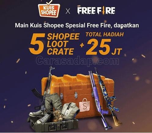 kuis shopee free fire terbaru