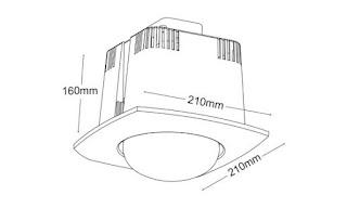 đèn sưởi phòng tắm âm trần hồng ngoại 1 bóng