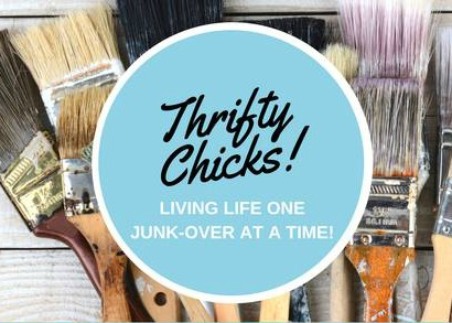 paint brushes Thrifty Chicks logo