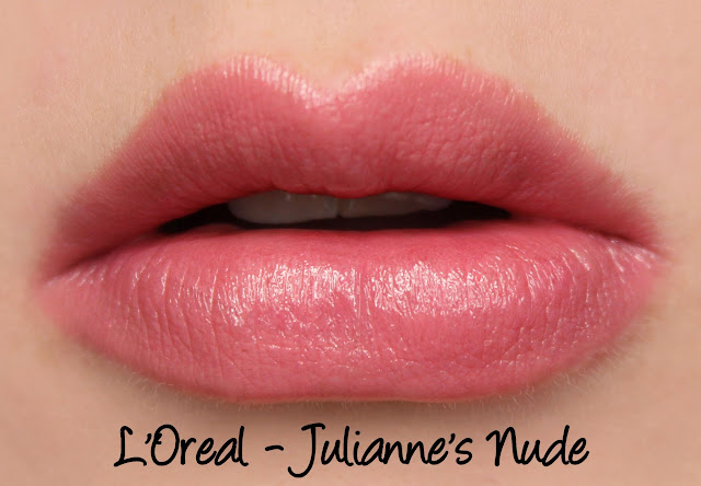 L'Oreal Color Riche Collection Exclusive Lipsticks - Julianne's Nude Swatches & Review