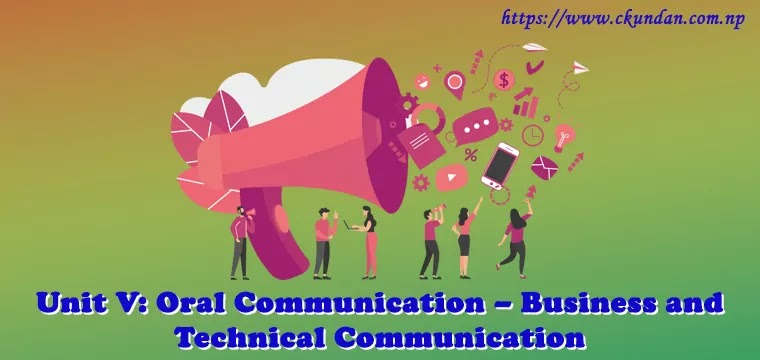 Oral Communication – Business and Technical Communication