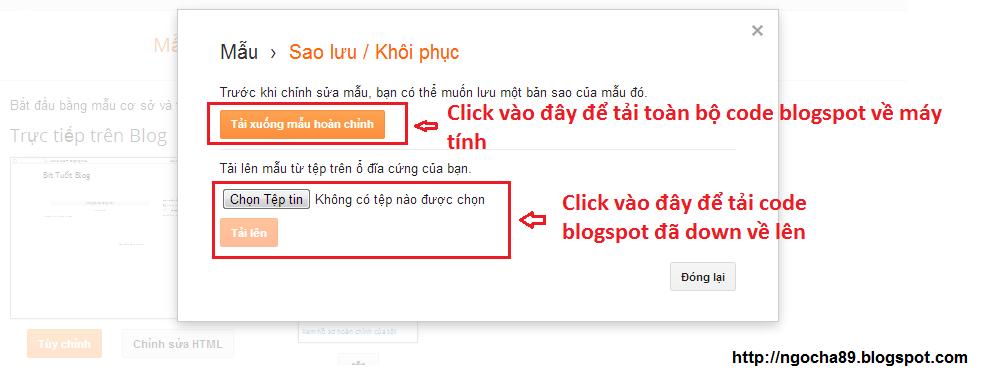 huong dan cach tao blogspot
