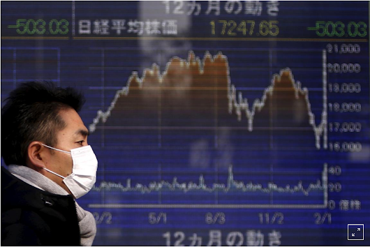 Asia shares worn out by trade tension, yen a safe harbor