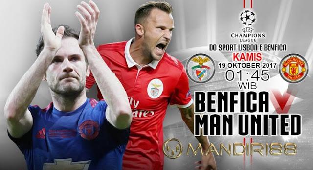 Manchester United akan bertandang ke Stadion Da Luz Berita Terhangat Prediksi Bola : Benfica Vs Manchester United , Kamis 19 Oktober 2017 Pukul 01.45 WIB @ SCTV