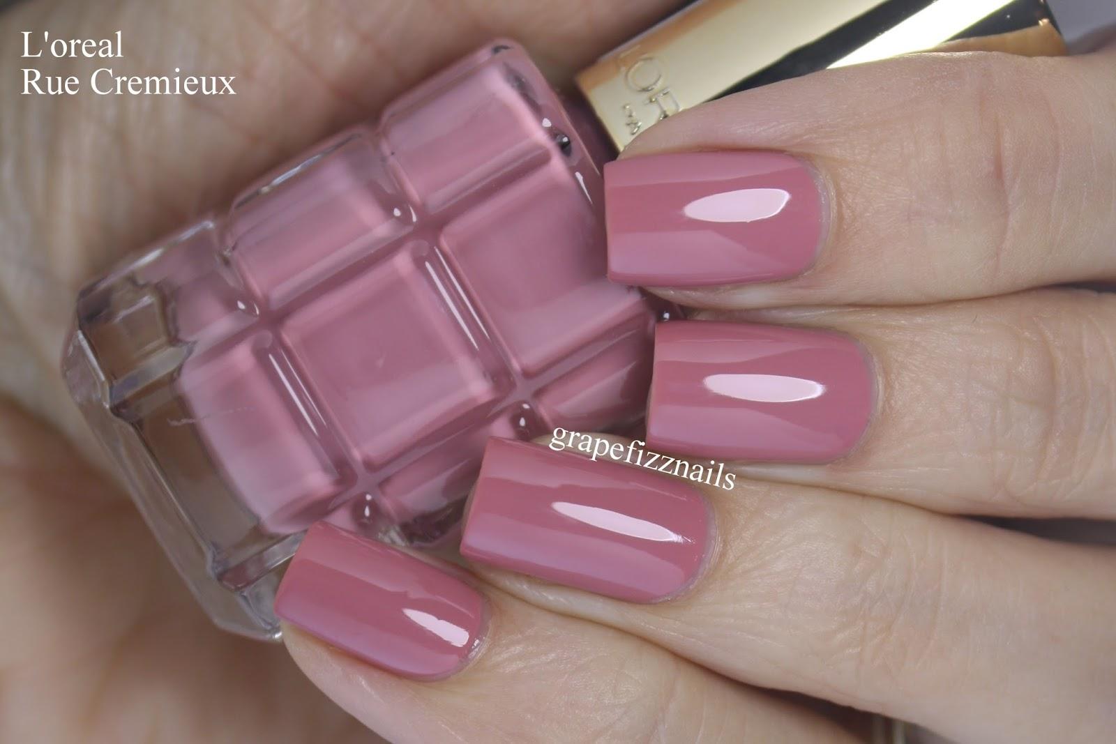 Grape Fizz Nails: L\'oreal Paris Color Riche, Rue Cremieux Swatch