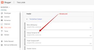 Cara Menampilkan Widget di Template Blogspot Versi Mobile Saja Tidak Muncul di Desktop | ARMAILA BLOGGER