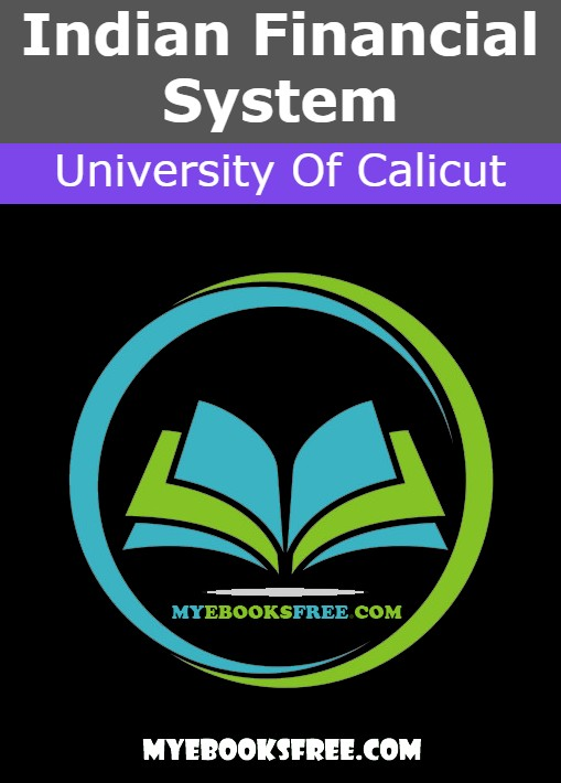 Indian Financial System PDF Notes by University Of Calicut