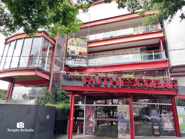 Vista da fachada do Teatro Ruth Escobar - Bela Vista - São Paulo