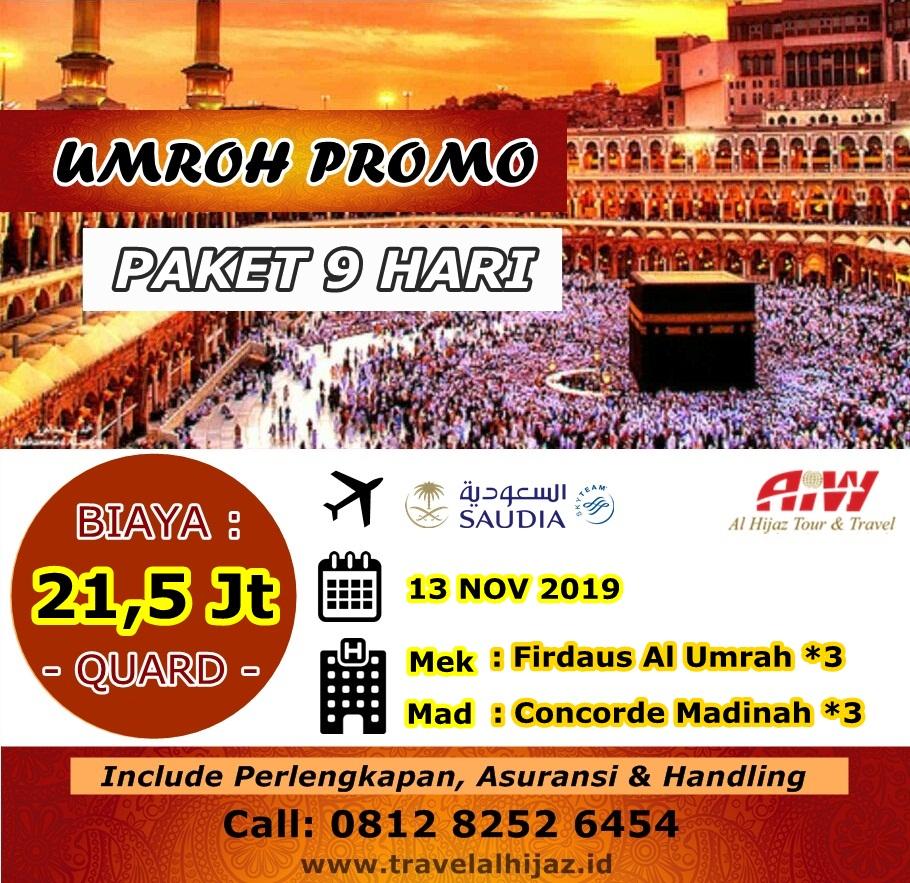 Paket Umroh Promo 2019 Program 9 Hari