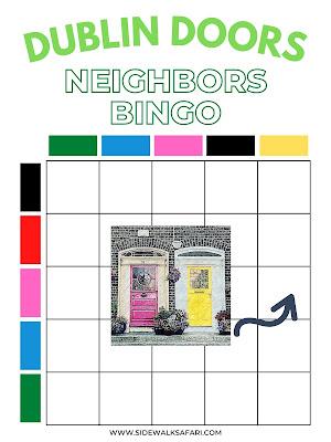 Free Dublin Treasure Hunt Bingo Card