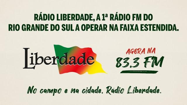 A Rádio Liberdade de Porto Alegre se torna a primeira emissora do Rio Grande do Sul a operar no FM Estendido na frequência de 83,3 FM