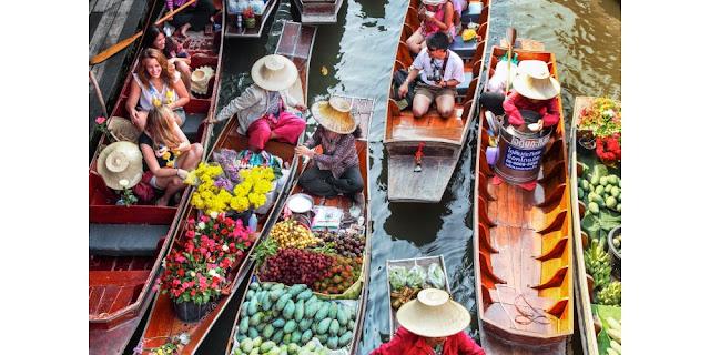 damnoen saduak, floating market in BAngkok, Kota Bangkok,Flights to Bangkok, Bangkok Online booking ticket
