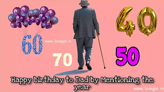 Happy birthday to Dad by Mentioning the year