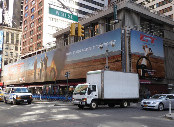 Grand Tour series launch billboard NYC