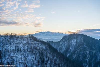 Widokowa Sokolica: Tatry tuż po zachodzie słońca