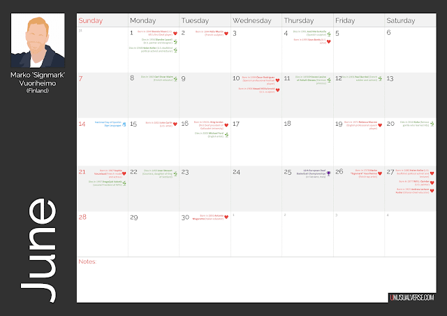 Deaf Calendar June 2020