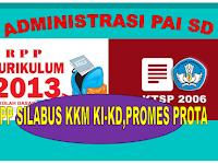 Download  Administrasi Pembelajaran Guru PAI SD Kurikulum 2013 dan KTSP Lengkap