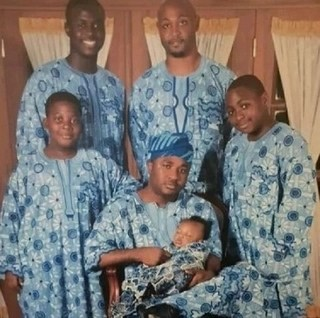 Epic throw back of young davido and family