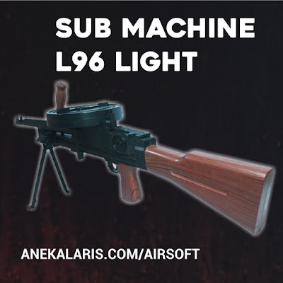Machine Gun Spring L96 Light With Drum Magazine