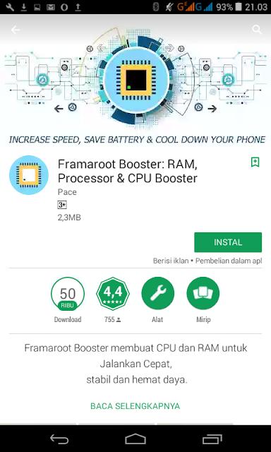 Aplikasi Root Framaroot