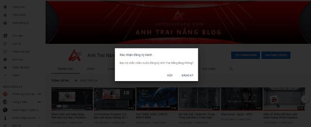 Hướng dẫn tạo hành động 'Xác nhận đăng ký kênh' cho link Youtube
