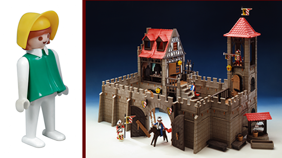 Playmobil, first female 1976 and first castle 1977