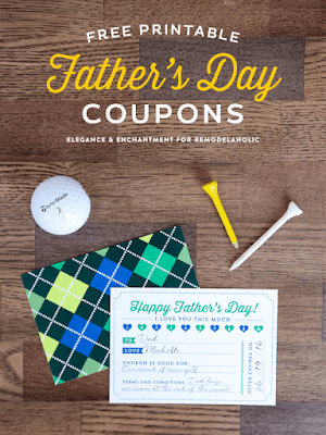 Cutest little fathers day gift! A custom coupon booklet.