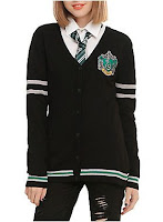 Hot Topic HARRY POTTER SLYTHERIN GIRLS CARDIGAN