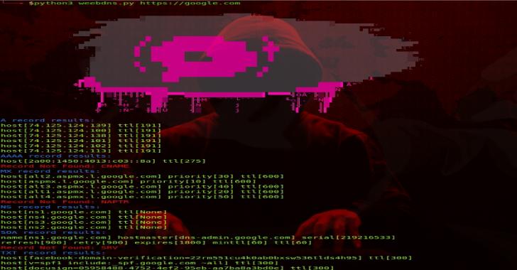 Weebdns : DNS Enumeration with Asynchronicity