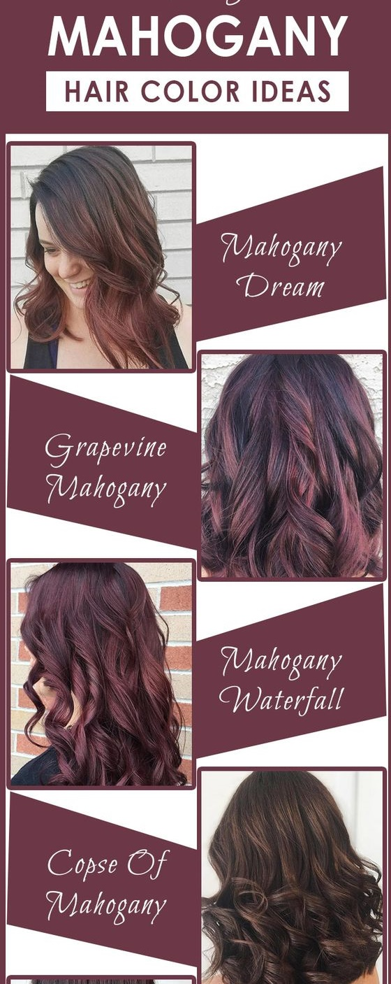 mahogany hair color inspiration