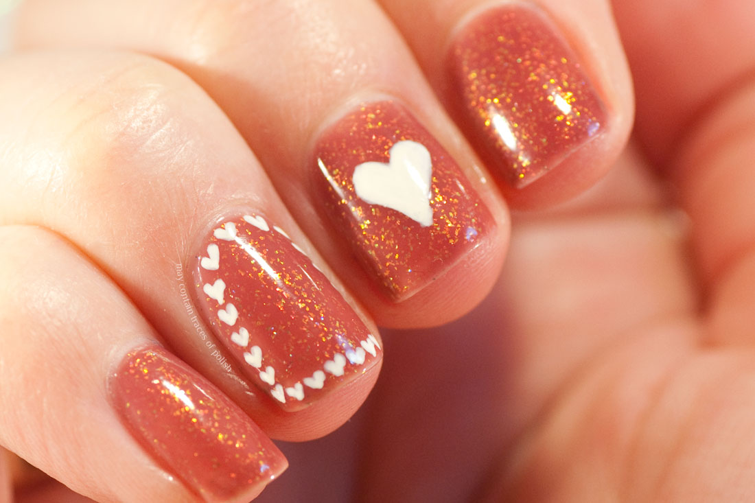 ILNP Cross My Heart Valentine Nail Art