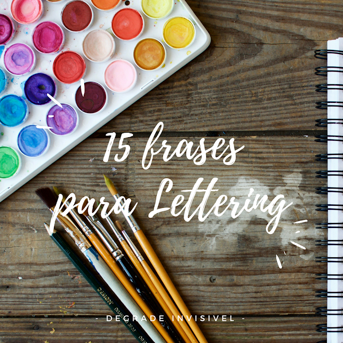 15 Frases para Lettering
